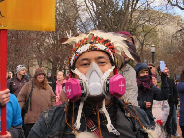 Redwolf Pope was in Washington at the Native Nations Rise March on DC on March 10, 2017. Native News Online photo by Levi Rickert