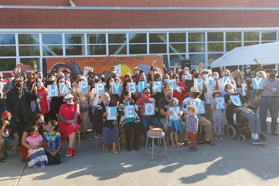 The community celebrates Leonard Peltier's 77th birthday on Sunday September 12 at the Richmond Art Center.  (Photo / Facebook)
