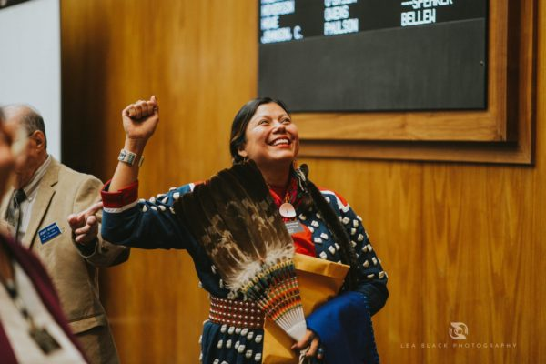 Ruth Buffalo beat the main sponsor of legislation that sought to suppress the Native vote in North Dakota. Photo Credit - Lea Black