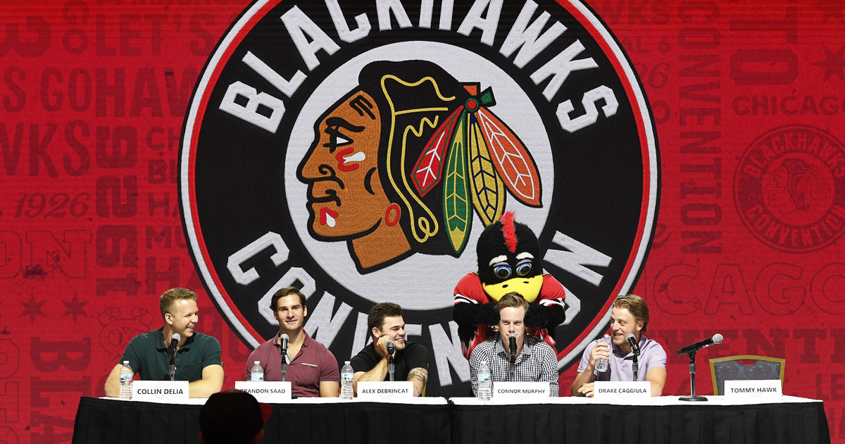 Chicago Blackhawks press panel