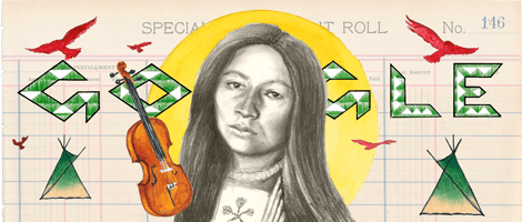On the 145th Birthday of Zitkala-Sa, Google Changes Homepage Logo with Doodle by Native Artist Chris Pappan